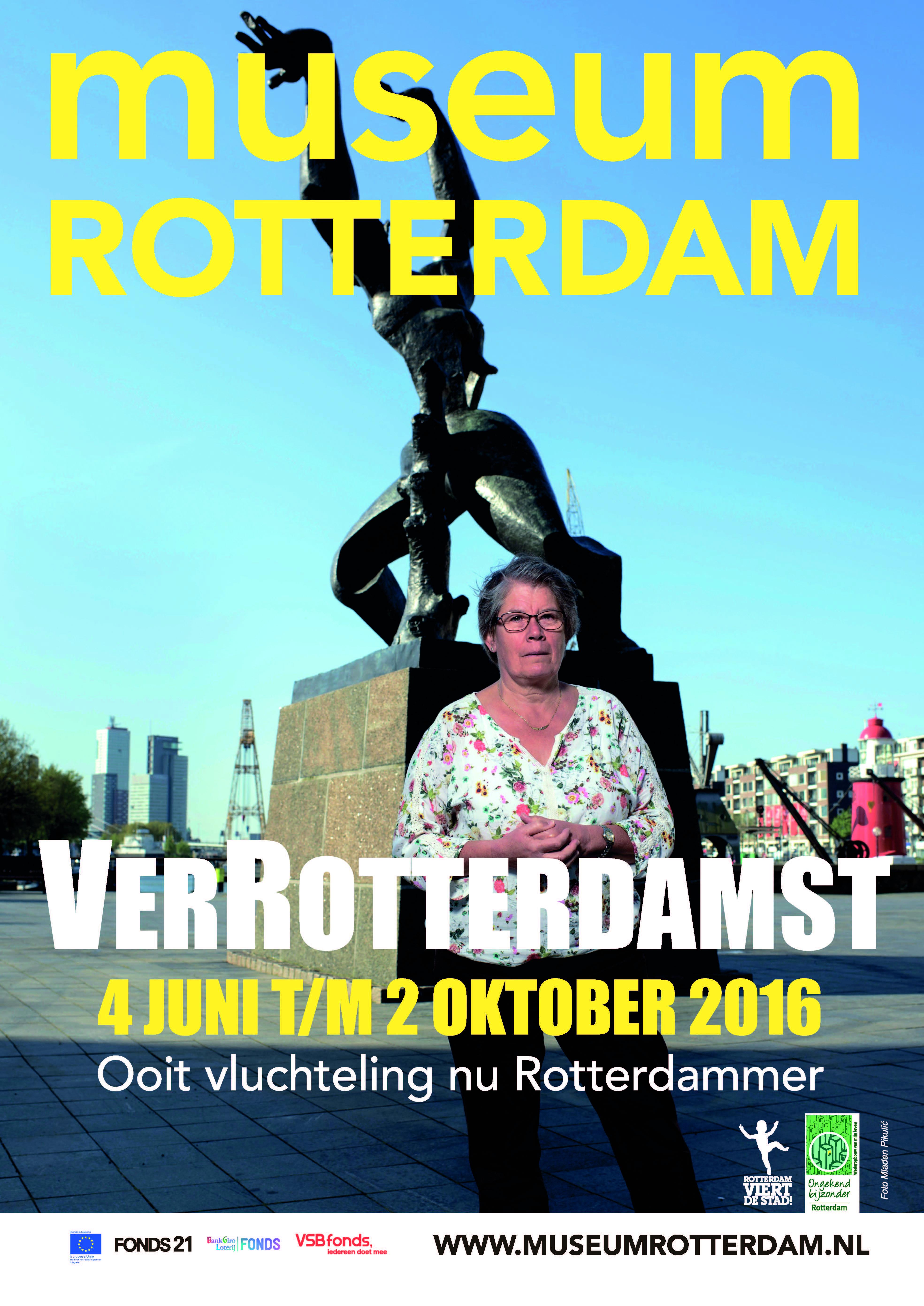 A2 poster (uit een serie van drie) bij de tentoonstelling VerRotterdamst Verspreiding: indoors 250 locaties